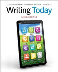 New products management 11th edition by c merle crawford c writing today 1st canadian edition by richard johnson sheehan isbn 13 fandeluxe Choice Image