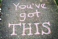 Chalk art for the sidewalk outside school