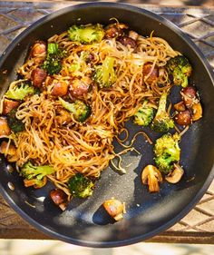 Gombás-brokkolis tészta | Street Kitchen Japchae, Vegetarian Recipes, Simple, Ethnic Recipes, Food, Lasagna, Recipies, Essen, Meals