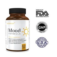 Natural Anxiety Relief, Stress Relief, & Mood Support Supplement with Ashwagandha, GABA, 5-HTP, Chamomile, and DMAE