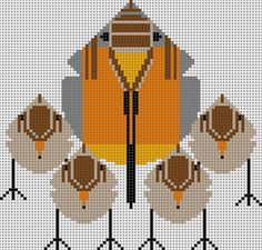 Charley Harper Needlepoint  Robins   $60