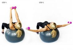 Chest Fly On stability ball