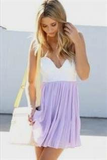 Nice lilac casual dress 2017-2018