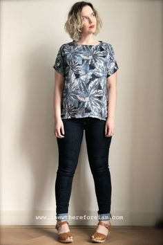 Inari Tee lengthened in liberty silk from The Fabric Store