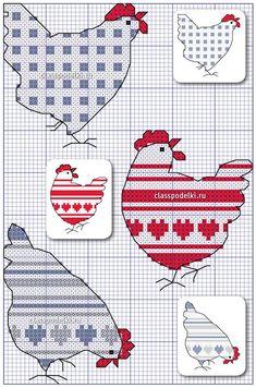 Бесплатная схема вышивания крестом курочки.