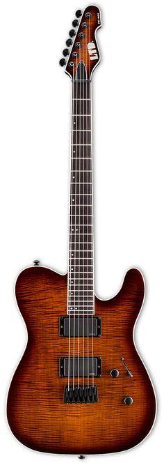 "LTD TE-401 Electric Guitar A classic body shape with modern shredder feel. Features - 25.5"" Scale Length - Mahogany Body - Set Thru Neck Contruction - Thin U Neck Contour - Rosewood Fingerboard - EMG"