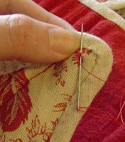 hand stiched eyelet