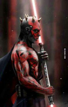 Darth Maul, Star Wars coolest sith lord cut down in his prime Star Wars Film, Star Wars Art, Star Trek, Jedi Sith, Sith Lord, Fan Art, Love Stars, Reylo, Clone Wars