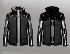 """Concept art of jacket details from """"X-Men: Days of Future Past"""" (2014)."""