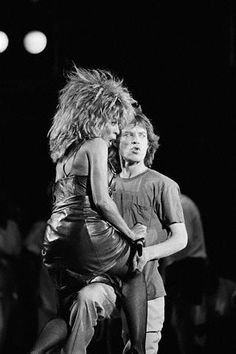 Tina Turner & Mick Jagger . Hot Damn....bet that was a SUPER Concert