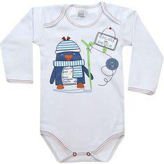 Body Bebê Menino Marujos ao Mar Branco - Patimini :: 764 Kids | Roupa bebê e infantil