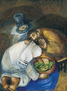 Jesus washing Peter's feet Sieger Koder I love his art! Bible Pictures, Jesus Pictures, Pictures To Draw, Religious Paintings, Religious Art, Holy Thursday, Jesus Art, Jesus Christ, Biblical Art