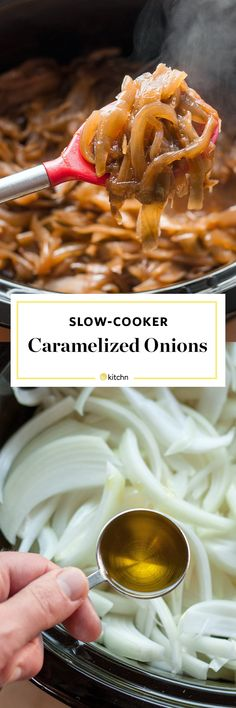 How To Make Caramelized Onions In Your Slow Cooker. Recipes like this are so simple they're easy to memorize! Use your crockpot or crock pot to make a big batch for dinners (particularly good on sandwiches or in french onion soup).