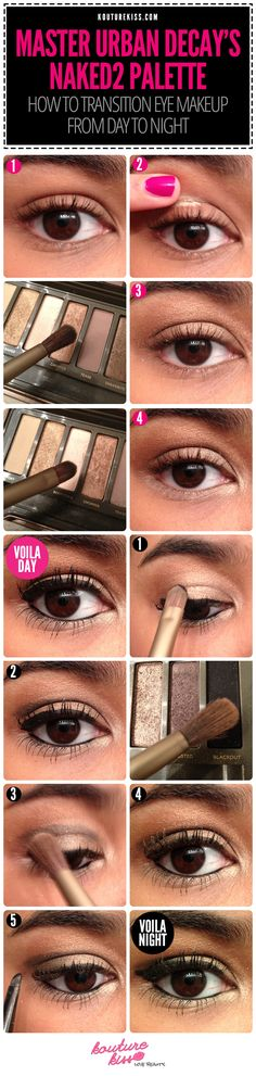 10 Creative And Useful Makeup Tutorials, Master Urban Decay's Naked2 Palette: Transitioning From Day to Night!