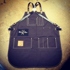 Custom barber apron made for Mad Men Barbers in New Jersey Barber Accessories, Leather Overalls, Bordeaux, Barber Apron, Barbershop Design, Adult Bibs, Work Aprons, Custom Aprons, Aprons For Men