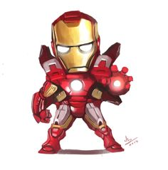 #Lil #Fan #Art. (little iron man mark 7 fanart) By: Saioheeryee.
