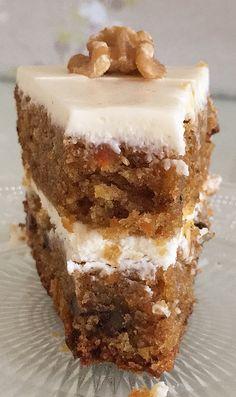 American Cake, Almond Cakes, Dessert Recipes, Desserts, Carrot Cake, Vanilla Cake, Nutella, Sweet Recipes, Carrots