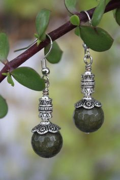 wire wrapped jewelry handmade green agate earrings by shahrinalam