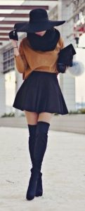 #winter #fashion / camel knit + boots