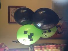 Mine Craft creeper balloons #minecraft #party