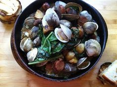 A Couple in the Kitchen: Clams with Sausage and Swiss Chard