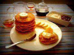 Ovesné lívanečky bez mouky Granola, Smoothies, Gluten Free, Breakfast, Diabetes, Fitness, Food, Diet, Smoothie