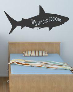 Kid's Name Shark Sea Animal Decal Wall by DavisVinylDesigns