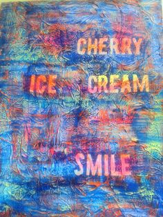 Mixed media - Cherry ice cream smile. Duran Duran
