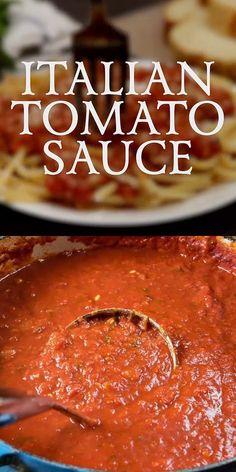 Authentic homemade Italian Tomato Sauce!! #tomatoes #ItalianFood #HomemadeSauce