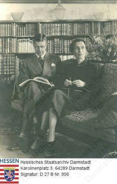 Princess Louise Mountbatten and her husband Crown Prince Gustav Adolf of Sweden, later King Gustav IV.