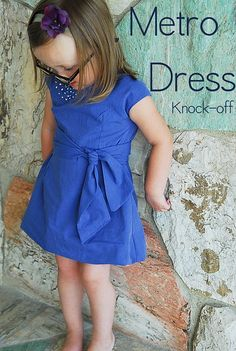 Men's shirt upcycle Metro Dress for girls