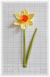 Mainly Flowers Independent Stampin' Up! Demonstrator Joanne Gelnar: Daffodil Tutorial