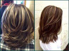 Pin on cabelo Medium Layered Haircuts, Medium Hair Cuts, Medium Hair Styles, Curly Hair Styles, Natural Hair Styles, Medium Hair With Layers, Ombre Hair, Hair Lengths, New Hair