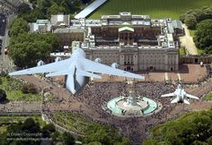 The Royal Air Force (RAF) flypast Buckingham Palace, London to mark the Queen's official birthday on Saturday 14 June 2008.by UK Ministry of Defence, wow that's an amazing shot!