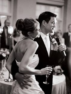 20 secrets to a fun wedding reception.  I love the one about having a lounging space so people who don't dance aren't stuck at their tables all night.  I wonder if we can rent a few couches?