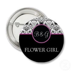 Baroque Elegance Flower Girl Button from http://www.zazzle.com/flower+girl+gifts