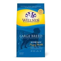 Wellness - Wellness Super5mix Large Breed Puppy Dog Food Controlled Energy Intake for Paced Growth Precise Calcium and Phosphorus Levels Guaranteed DHA Fatty Acid Supports Brain & Eye Development
