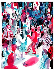 Brecht Evens makes these amazingly colorful scenes Illustration Design Graphique, Love Illustration, Business Illustration, Tom Bagshaw, Queer Art, Bar Art, Bd Comics, Abstract Drawings, Kawaii