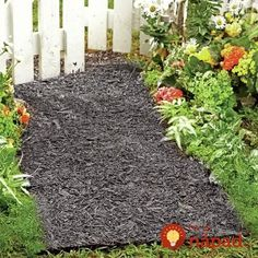 Found it at Wayfair - Environmentally Friendly Perma Mulch Pathway Mulch Landscaping, Landscaping With Rocks, Landscaping Ideas, Mailbox Landscaping, Walkway Ideas, Luxury Landscaping, Roof Ideas, Tree Mulch, Rubber Mulch