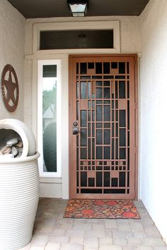 DiligentDesigner: New Steel Security Door Metal Screen Doors, Steel Frame Doors, Wrought Iron Doors, Door Gate Design, Main Door Design, Modern Entrance Door, Steel Security Doors, Window Grill Design, Designer