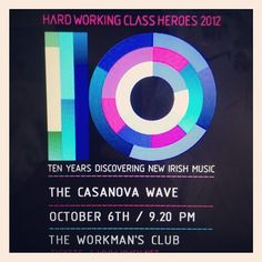 This year at @HWCH12 :: @thecasanovawave (Taken with Instagram) Working Class, Chicago Cubs Logo, Dublin, Waves, Music, Instagram, Musica, Musik, Muziek