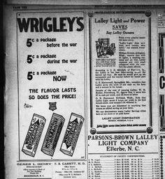 Wrigley's Gum  Rockingham post-dispatch. (Rockingham, N.C.) 1917-1965, January 01, 1920