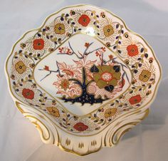 Royal Crown Derby  Dish Imari  This piece is a combination of 4 different patterns....looks like some designer was having some fun! RARE