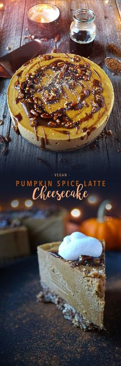 Vegan Pumpkin Spice Latte Cheesecake