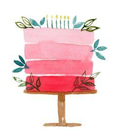 Birthday Painting, Watercolor Birthday Cards, Birthday Card Drawing, Watercolor Cards, Birthday Card Design, Watercolor Drawing, Simple Birthday Cards, Bday Cards, Handmade Birthday Cards