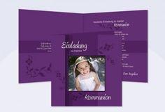 Einladungskarten Kommunion Konfirmation mit Fotos - SagesmitHerz.de