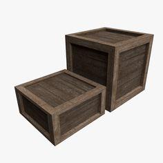 3D Model Of Wood Crate - 3D Model