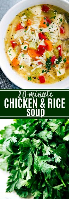 The EASIEST 20-MINUTE Chicken, Vegetable, & Rice Soup. All made in ONE POT!!! chelseasmessyapron.com