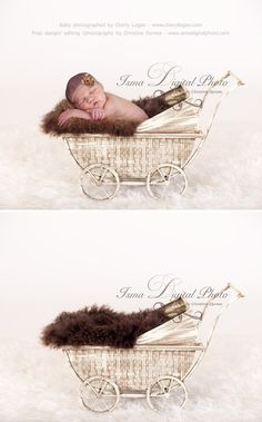 Vintage Stroller With Brown Furry Blanket 2 - Beautiful Digital background Newborn Photography Props download Vintage Stroller, Prop Design, Digital Backdrops, Baby Carriage, Newborn Photography Props, Family Photo, Baby Photos, Photo Props, Photo Ideas