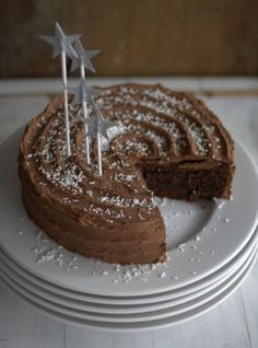 Schokoladen-Zimt-Torte mit Pflaumenmus